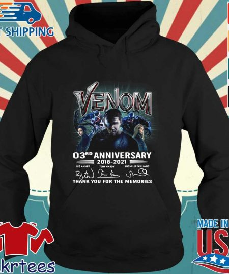 Venom 03rd anniversary thank you for the memories signatures s Hoodie den