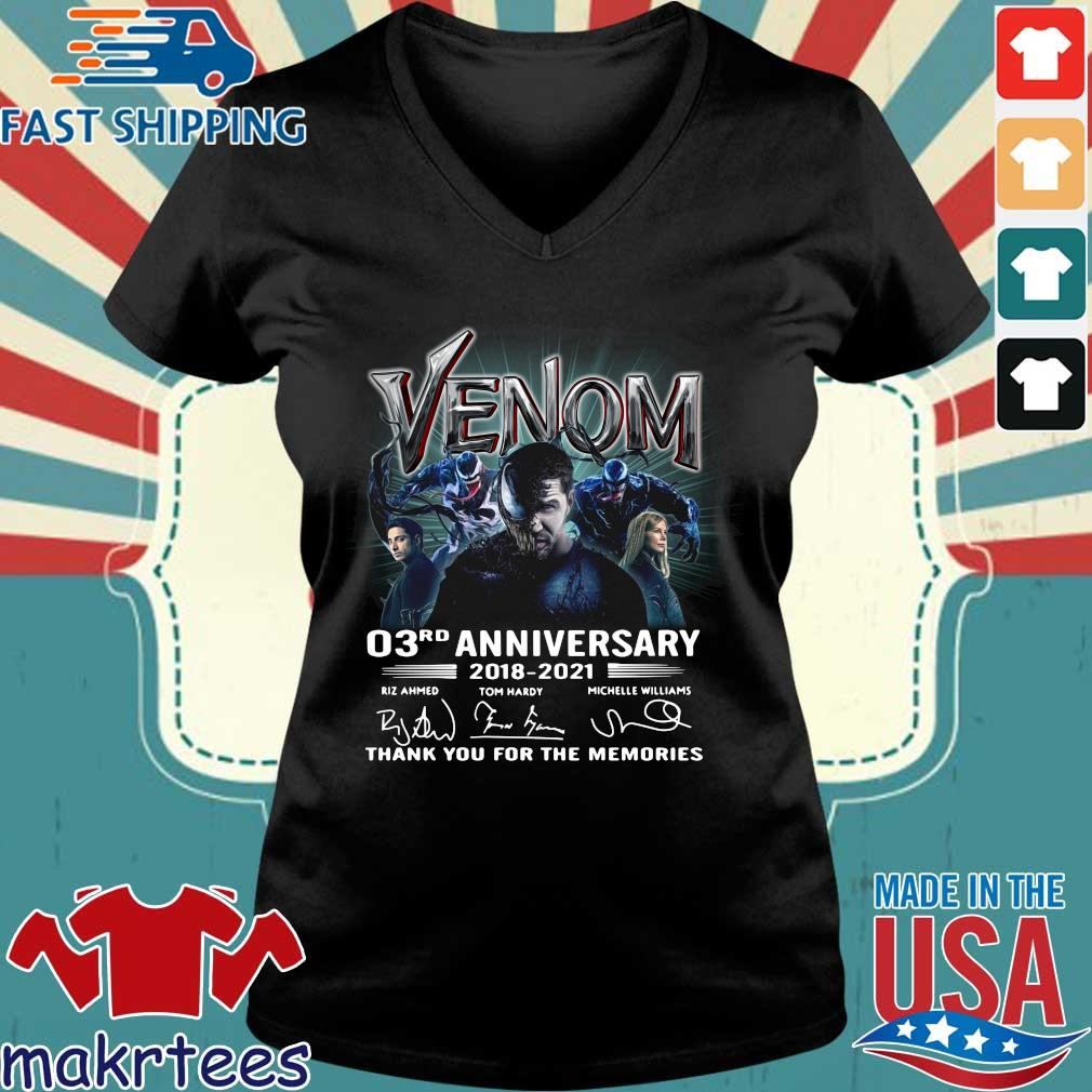Venom 03rd anniversary thank you for the memories signatures s Ladies V-neck den