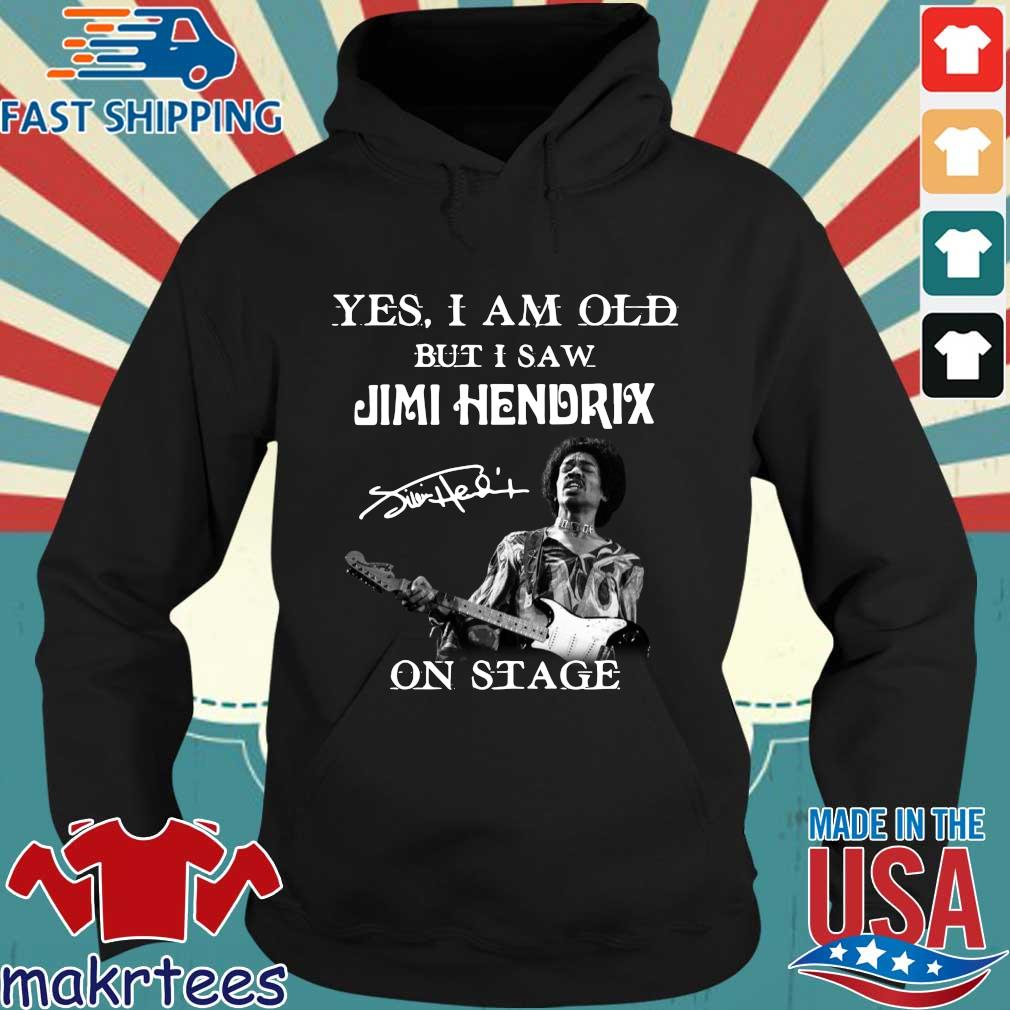 Yes I am old but Is aw Jimi Hendrix on stage signature s Hoodie den