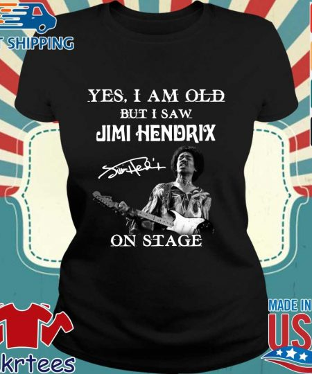 Yes I am old but Is aw Jimi Hendrix on stage signature s Ladies den