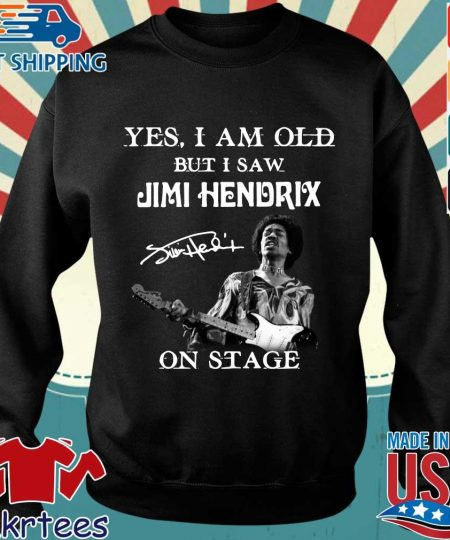 Yes I am old but Is aw Jimi Hendrix on stage signature shirt